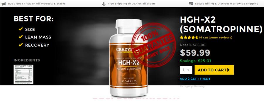 HGH-X2 (Somatropinne) crazybulk